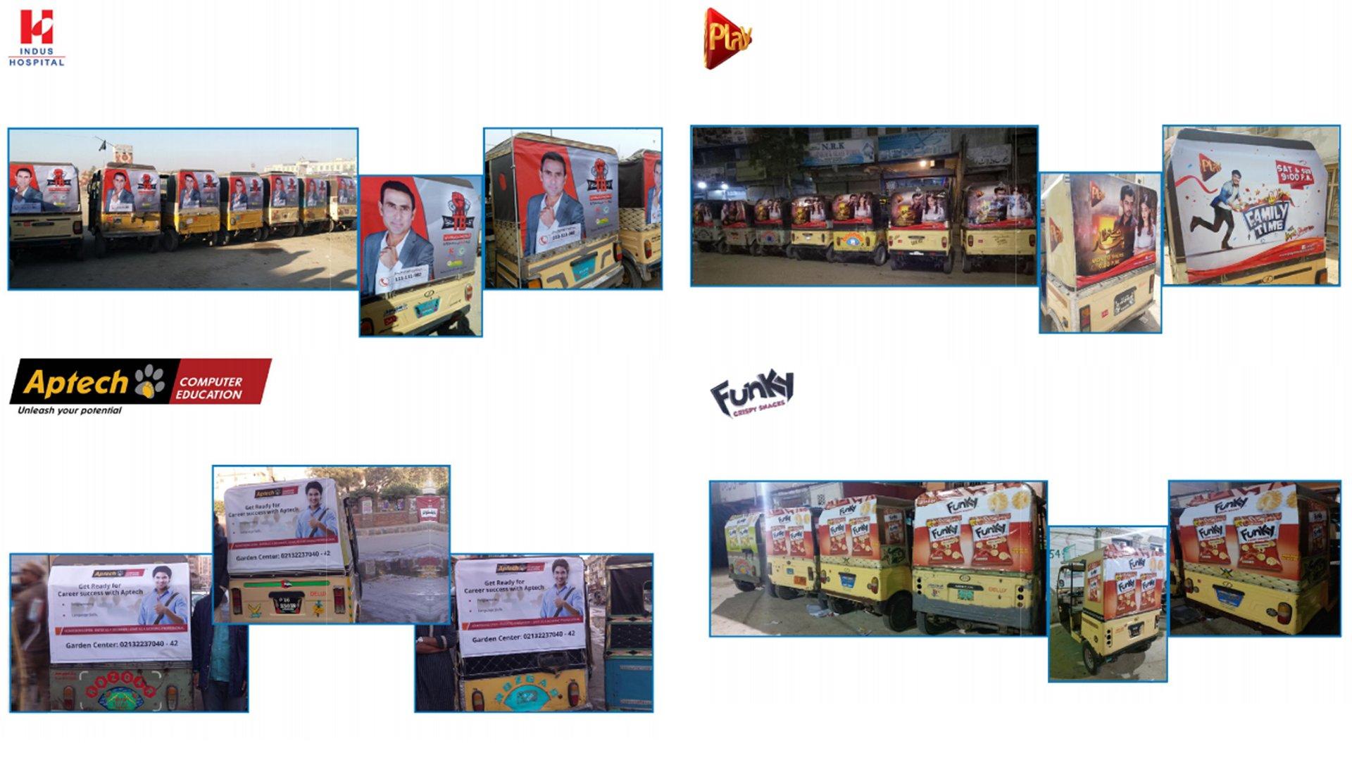 rickshaw advertising karachi