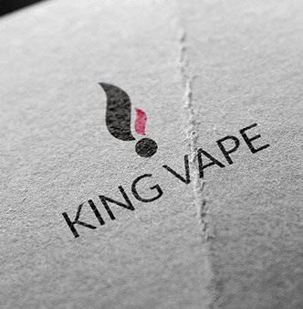 King Vape Store Logo Design