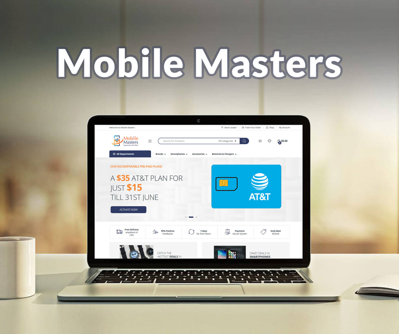 Mobile Masters Website Development