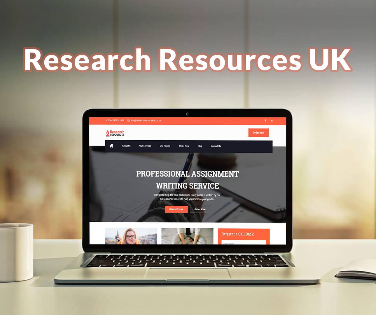 Research Resources UK Website Development