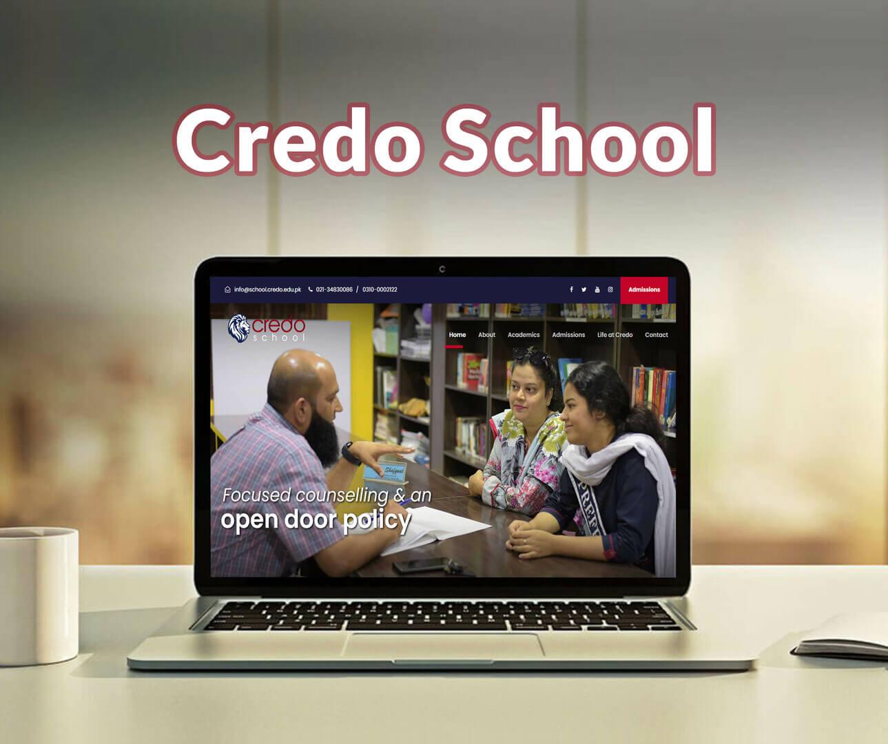 Credo School Website Development Portfolio