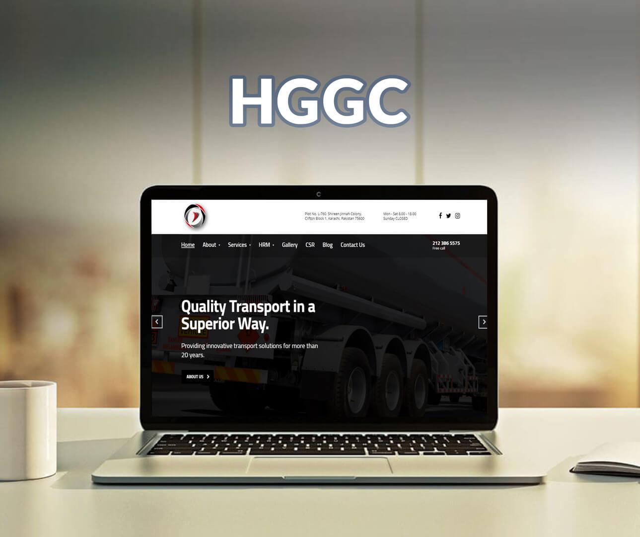 HGGC Website Design