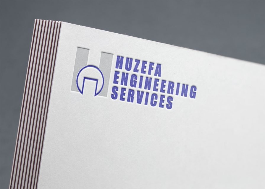 Huzaifa Engineering Services Logo Design