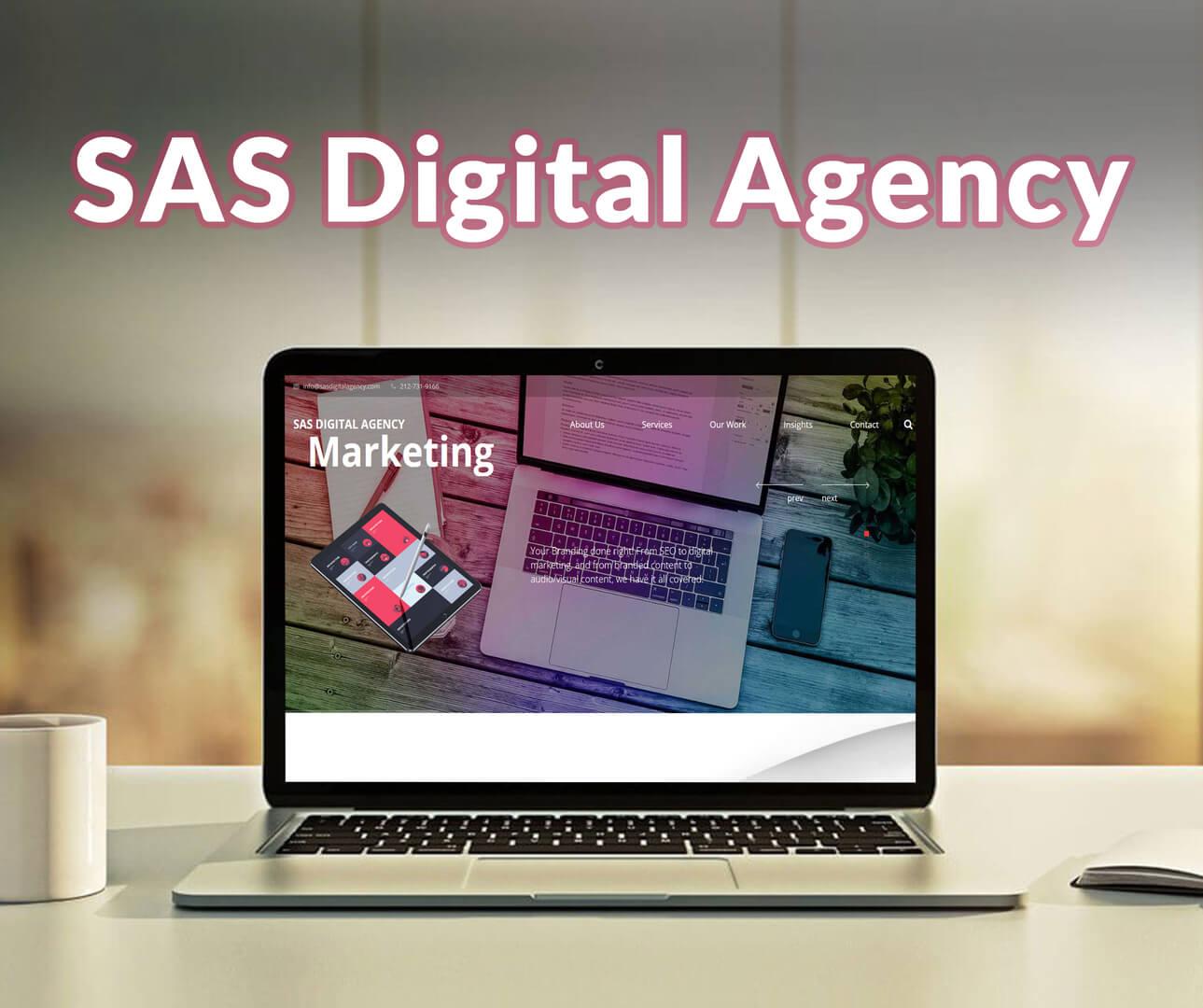 Sas Digital Agency Website Development