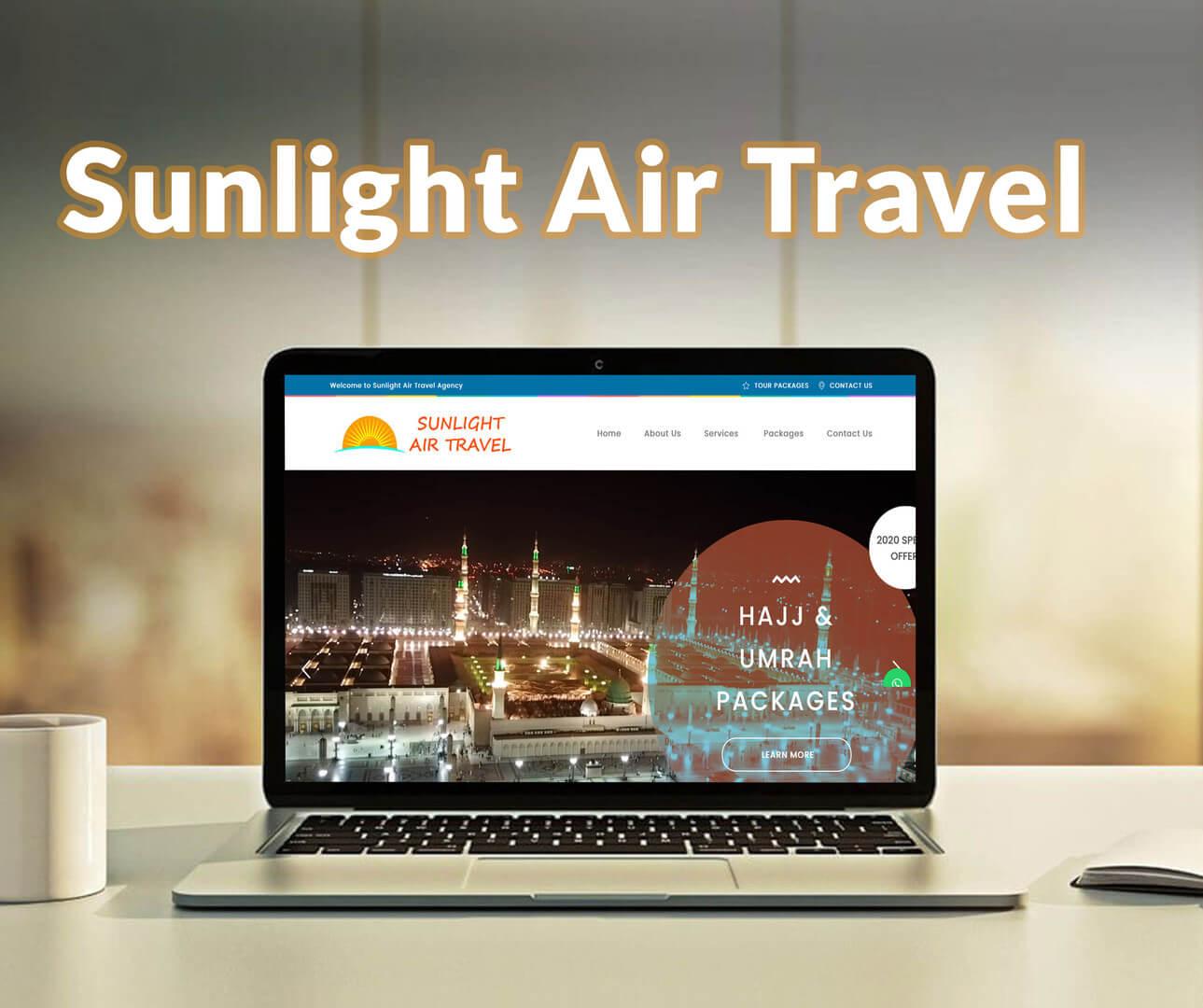 Sunlight Air Travel Website Development