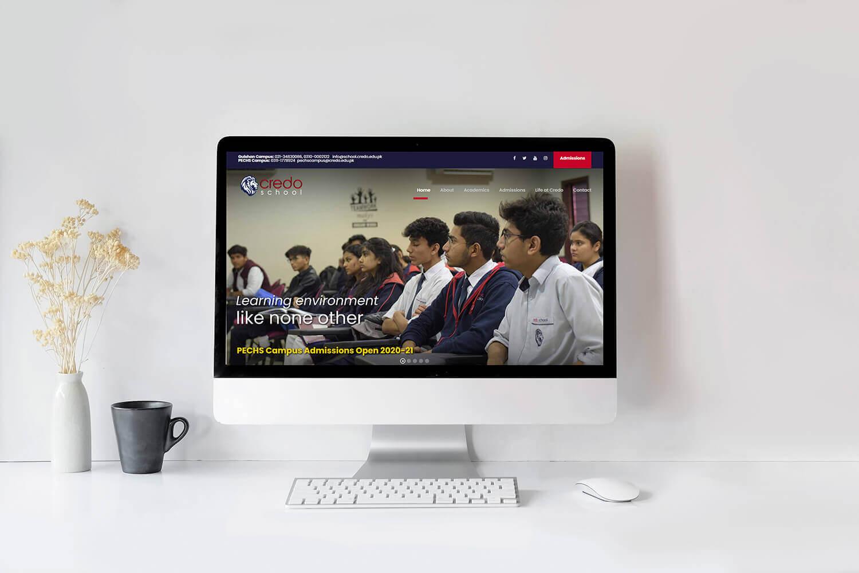 Credo School Website Development