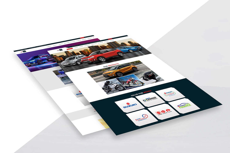 Pak Suzuki Website Mockups