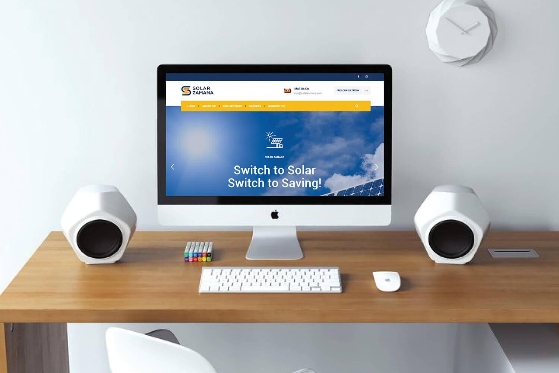 Solar Zamana Website Design Development