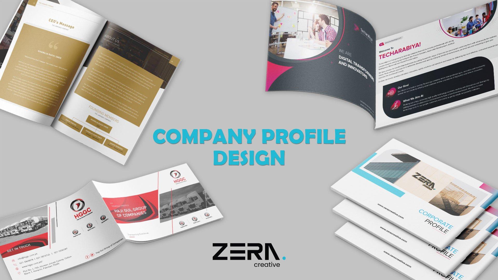 Company Profile Design Service and Portfolio