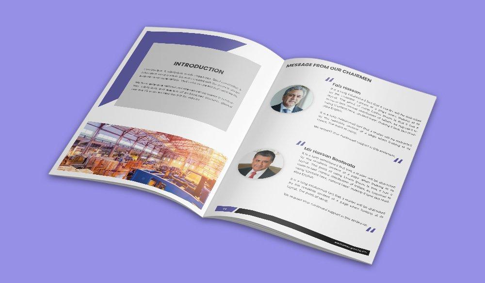 Huzefa Engineering Company Profile Design