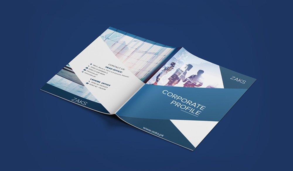 ZAKS Pakistan Company Profile Design